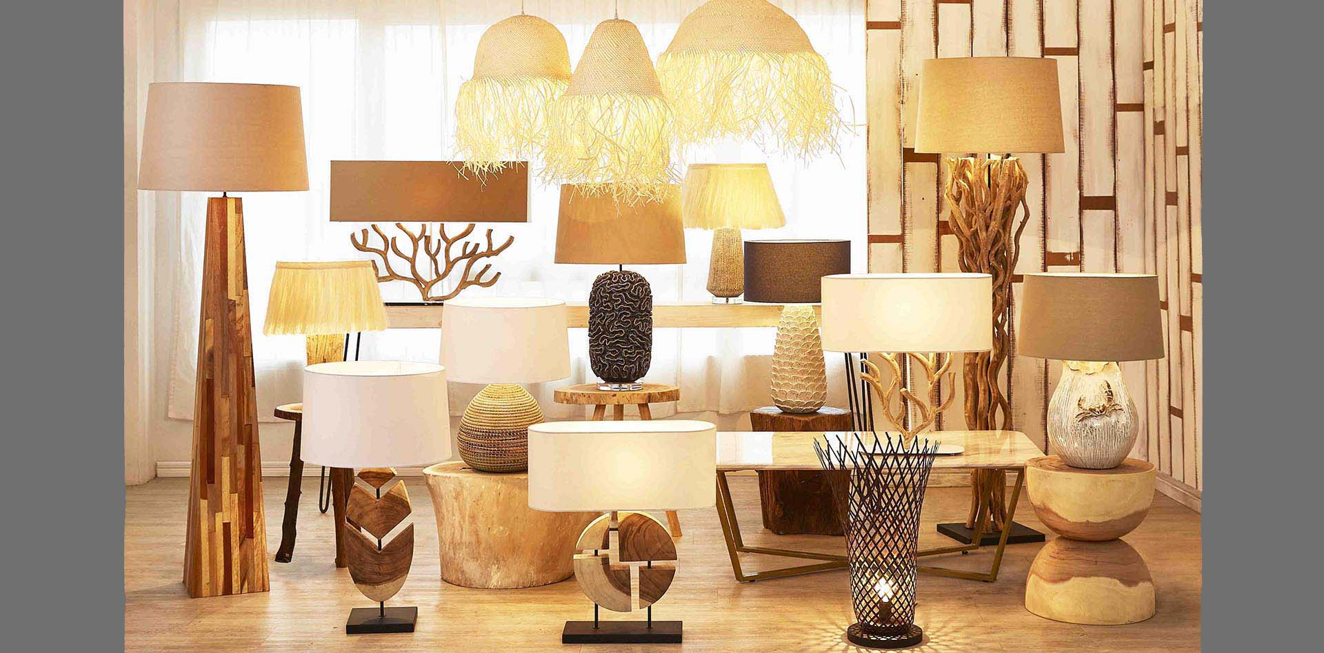 Driftwood Lamps | Mother of Pearl Lighting | Handmade Ceramic Lamps gallery image #1