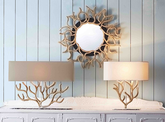Driftwood Lamps | Mother of Pearl Lighting | Handmade Ceramic Lamps gallery image #3