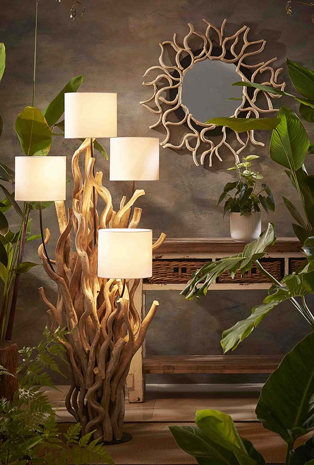Driftwood Lamps | Mother of Pearl Lighting | Handmade Ceramic Lamps gallery image #18
