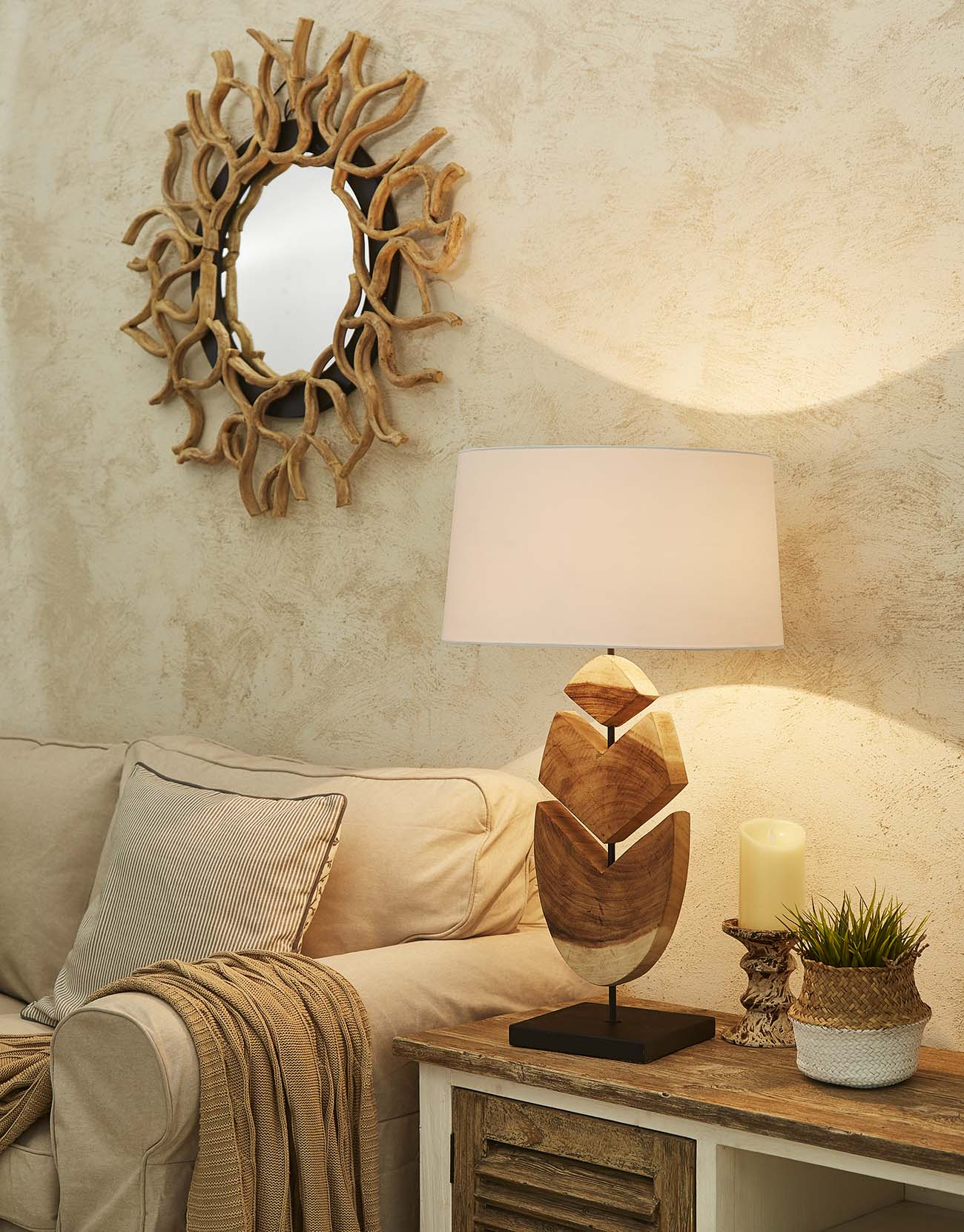 Feather table lamp product photo #2