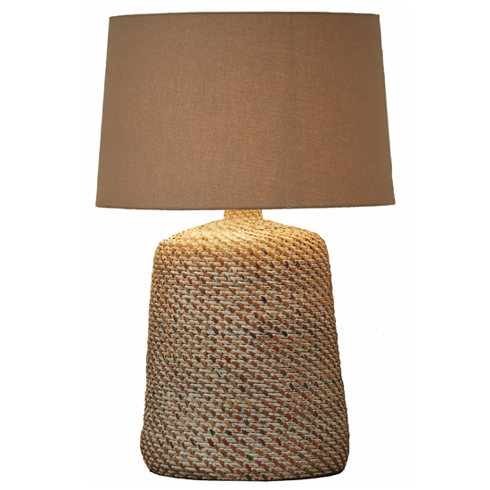 Seagrass Table Lamp Vase