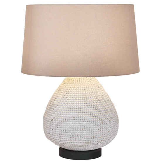 Seagrass Table Lamp Dropshape