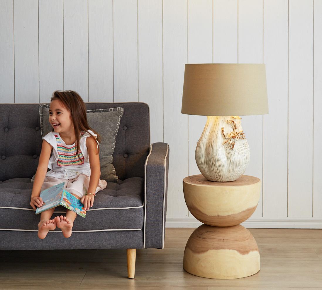 Crab Ceramic table Lamp product photo #1