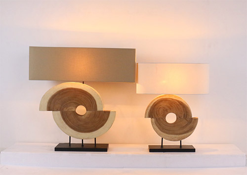 Siab wood table lamp product photo #1