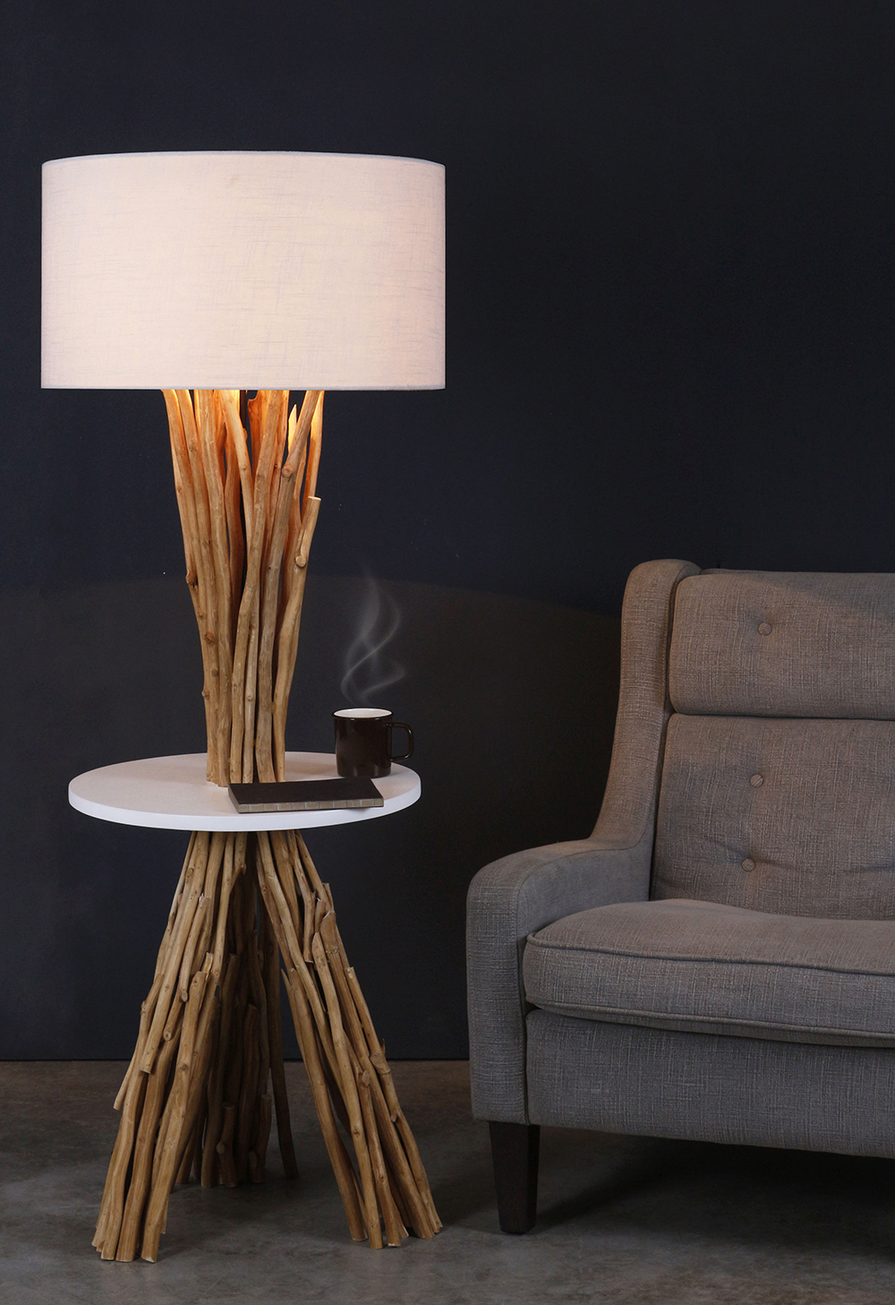 Woodland table floor lamp product photo #2