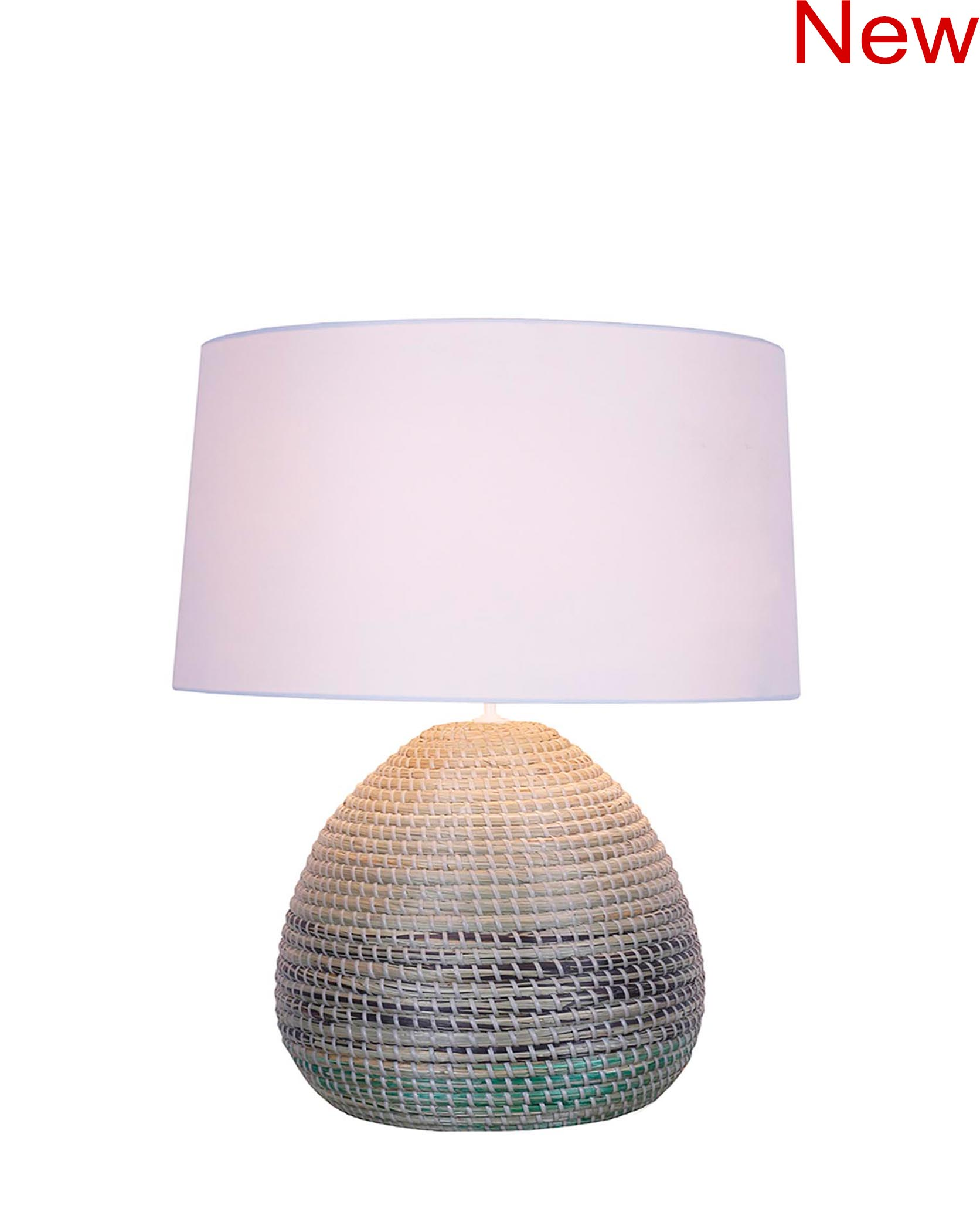 Seagrass table lamp product photo #2