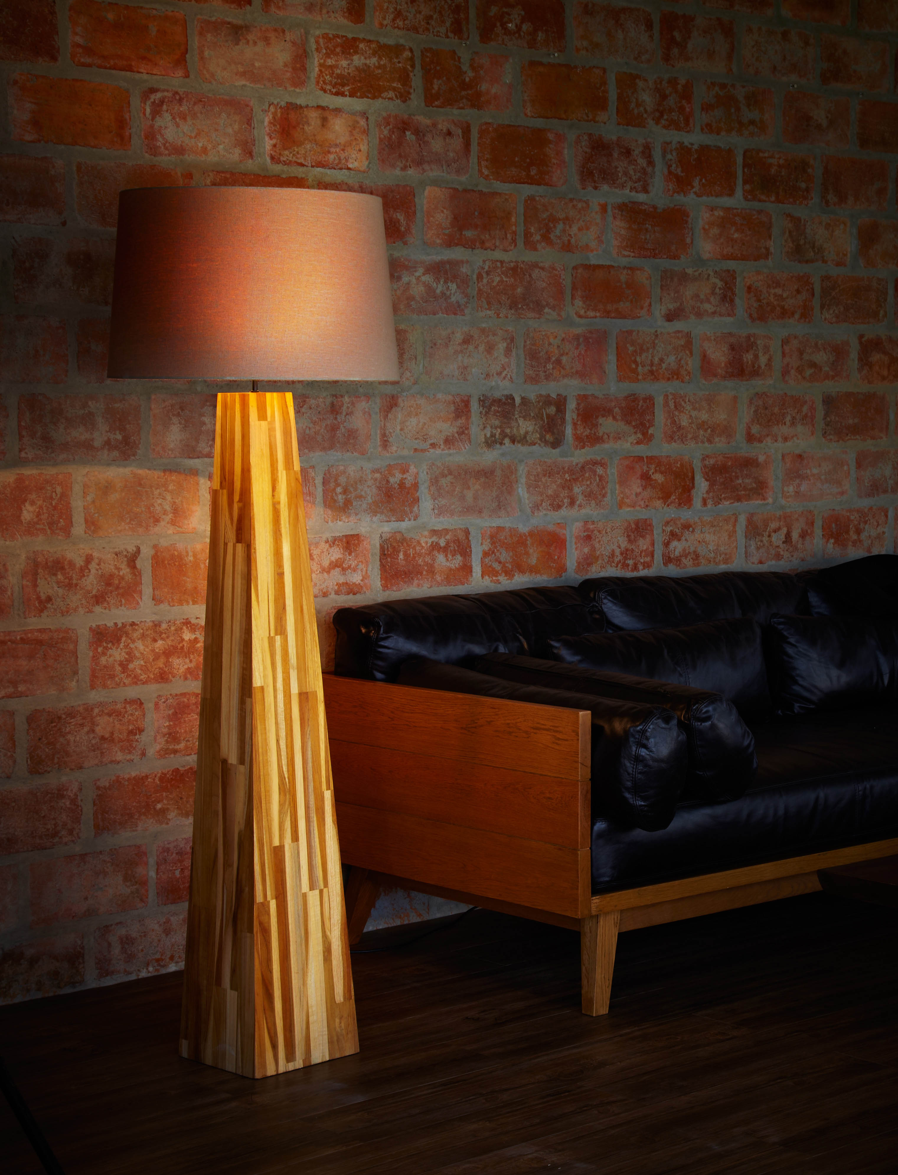 Line Teak Floor Lamp product photo #2