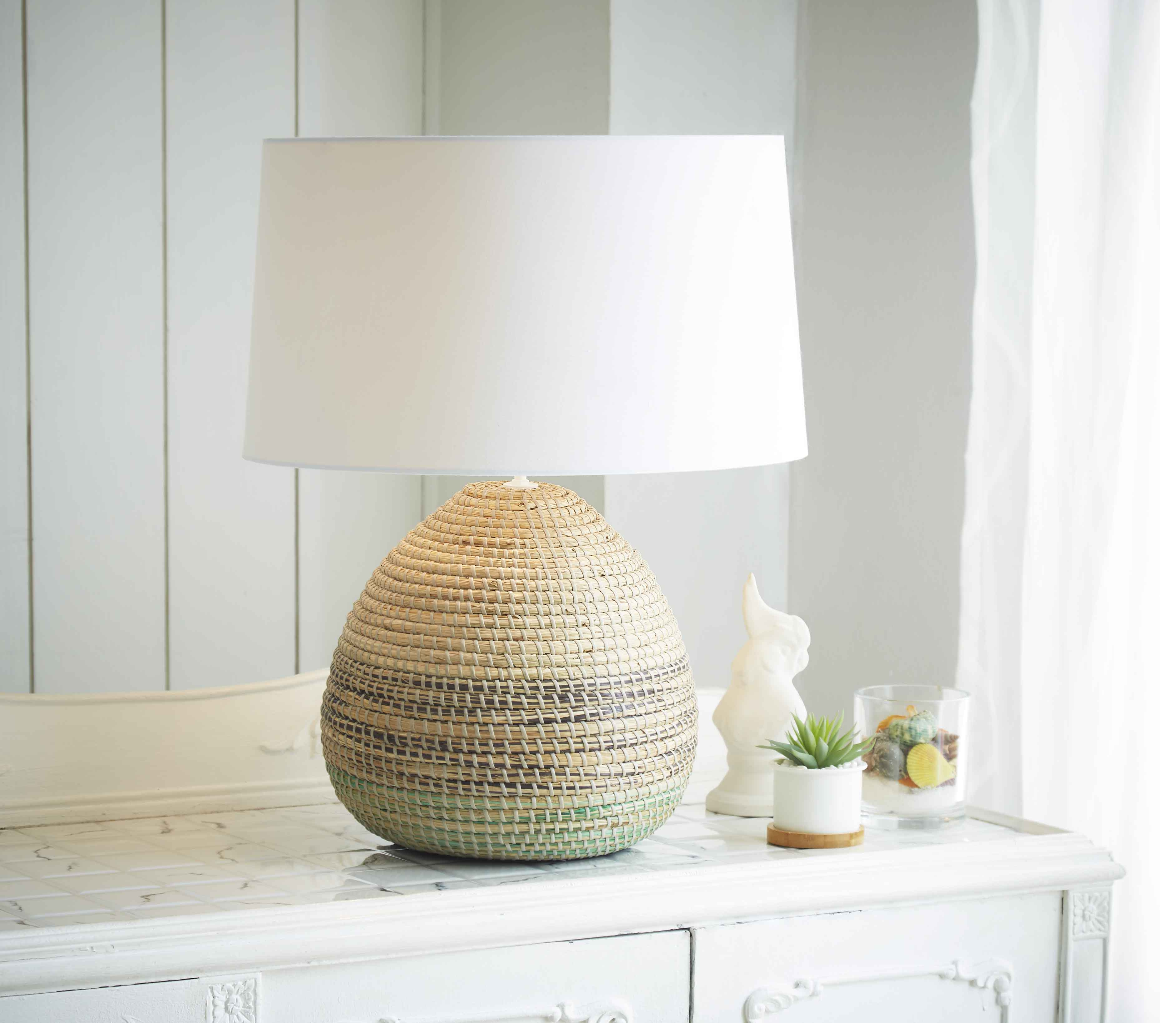 Seagrass table lamp product photo #1