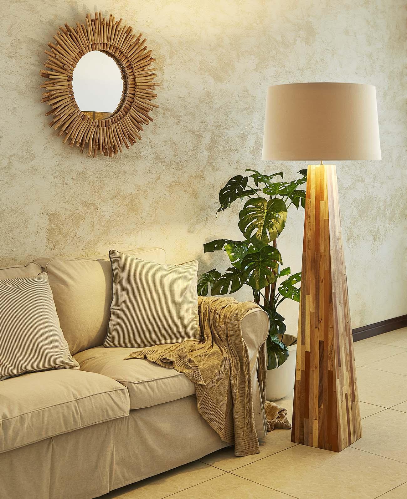 Line Teak Floor Lamp product photo #1