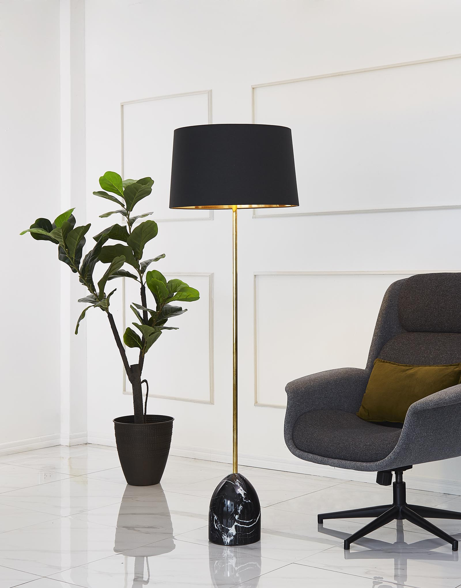 Marble floor lamp product photo #1