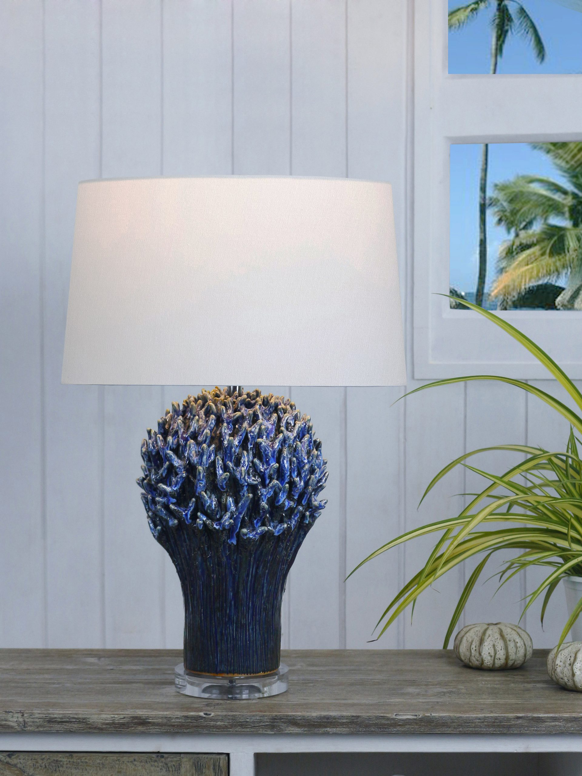 Staghorn coral table lamp product photo #1