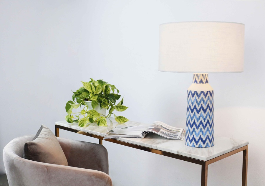Blue wave table lamp product photo #1
