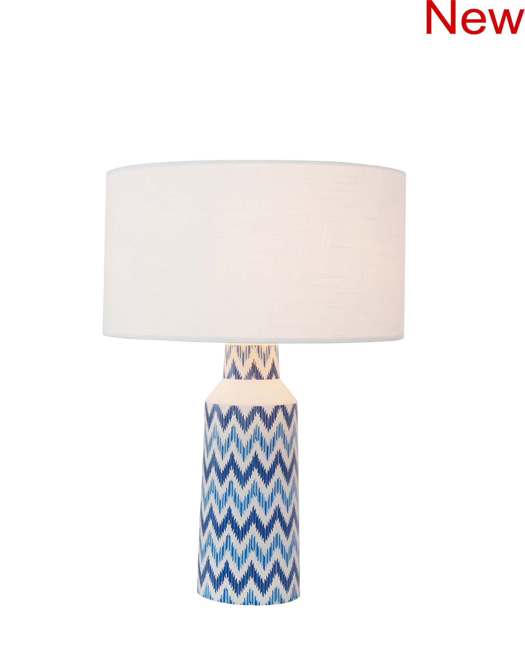 Blue wave table lamp product photo #3