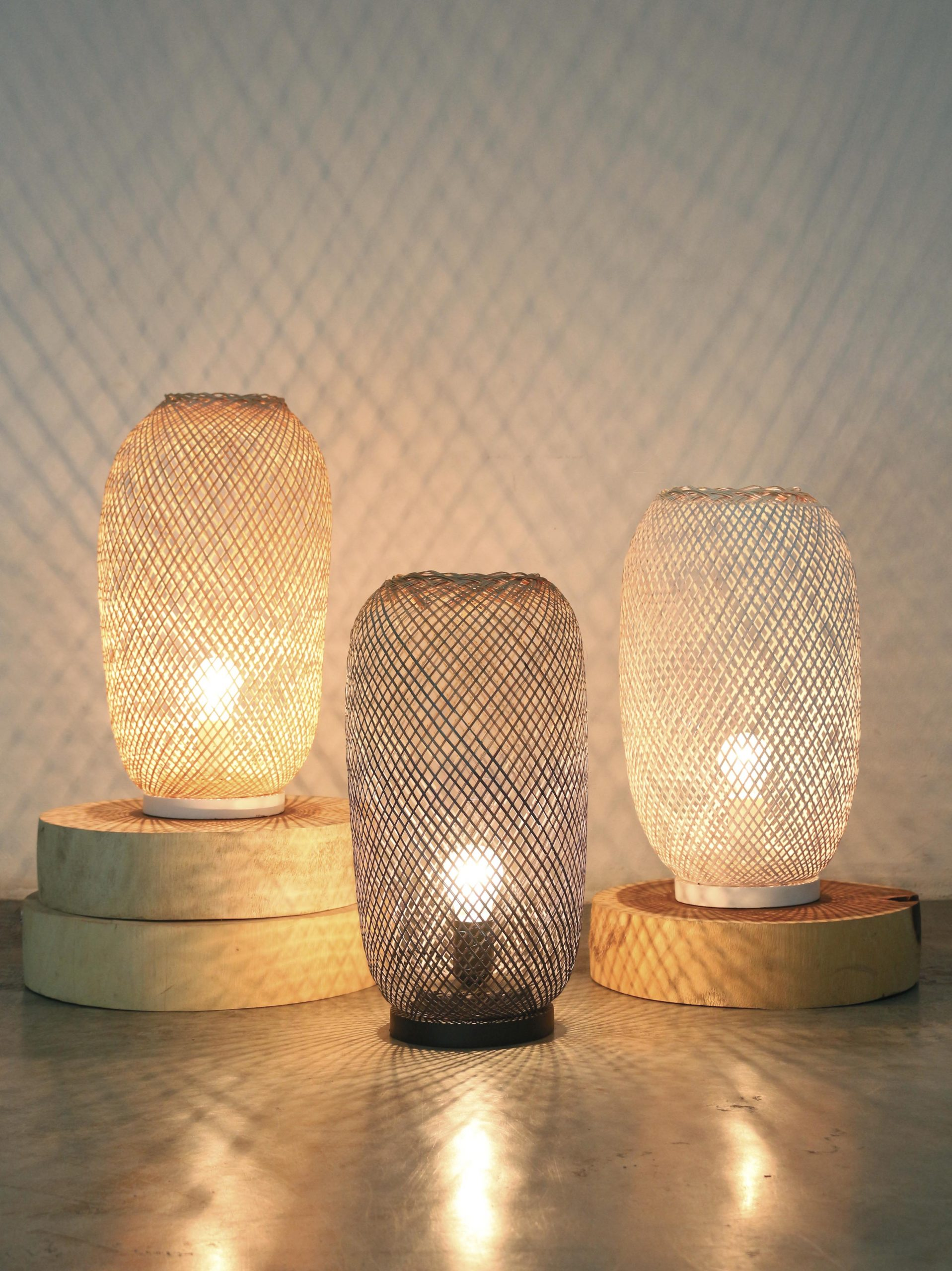 Bamboo Nest table lamp product photo #2