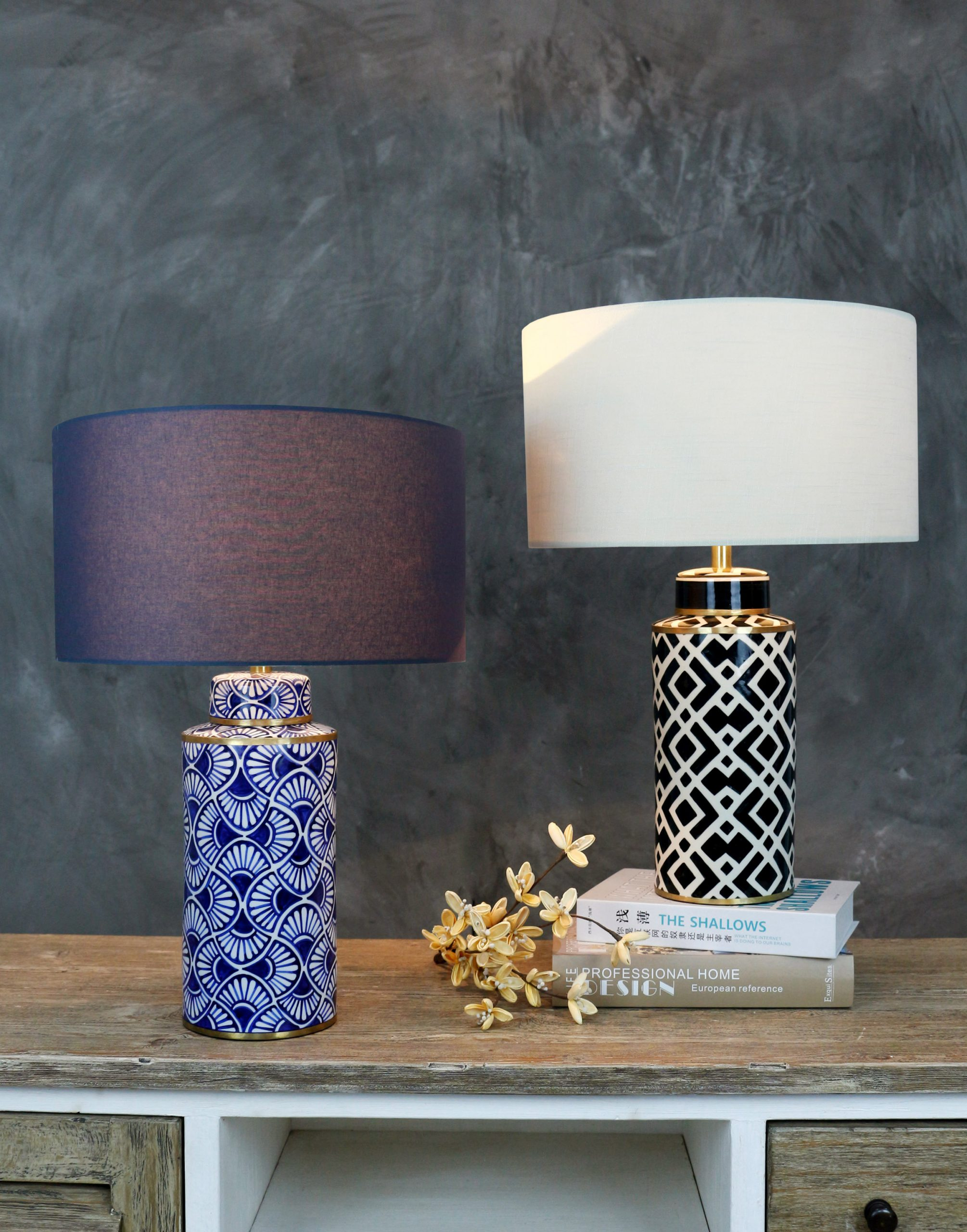 Hand Painted table lamp product photo #1