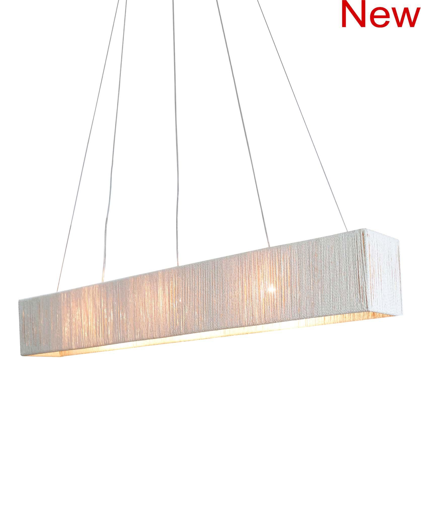 Rectangular sisalana chandelier product photo #2