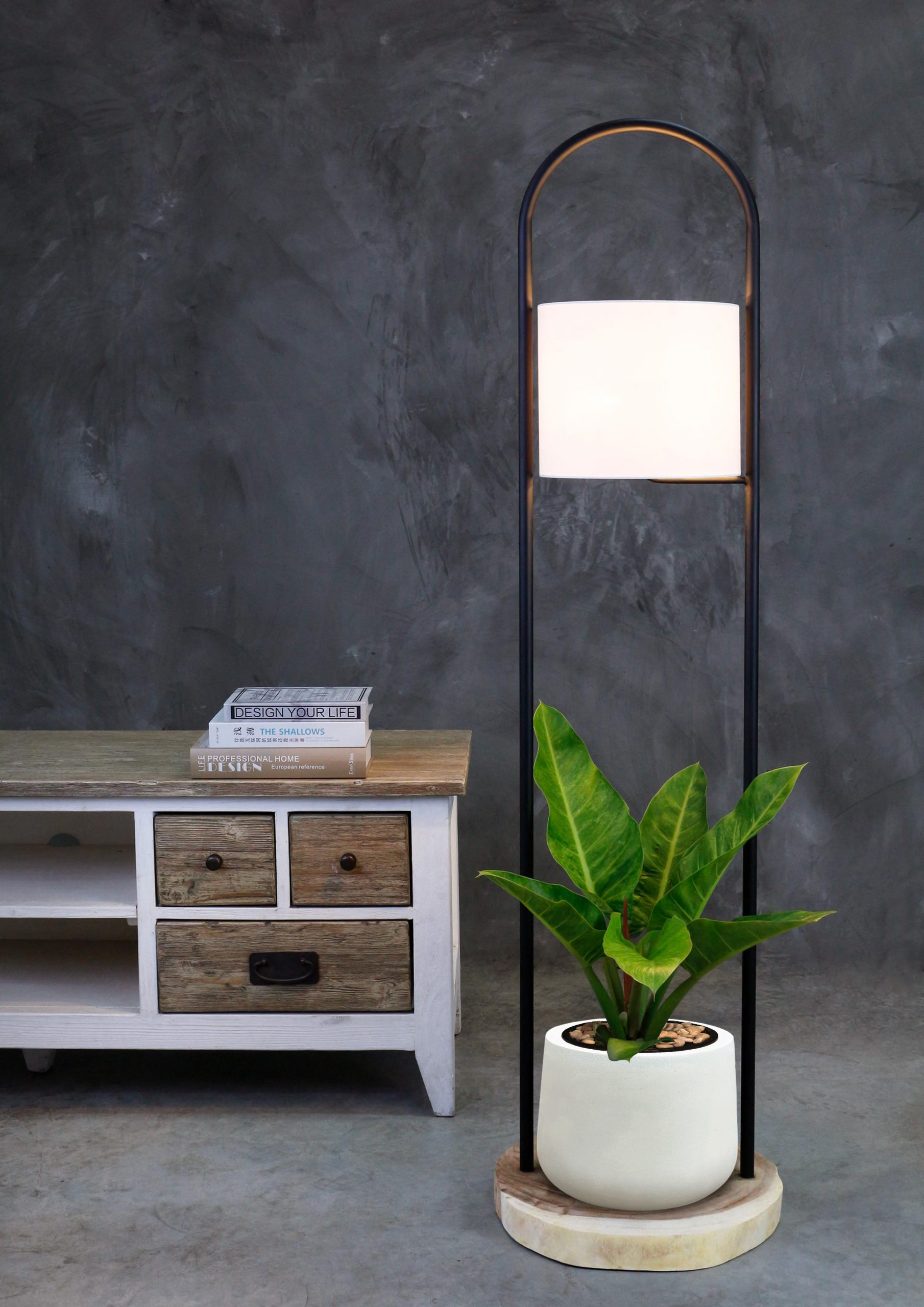 Acacia lamp and planter, without pot (Knock Down) product photo #1