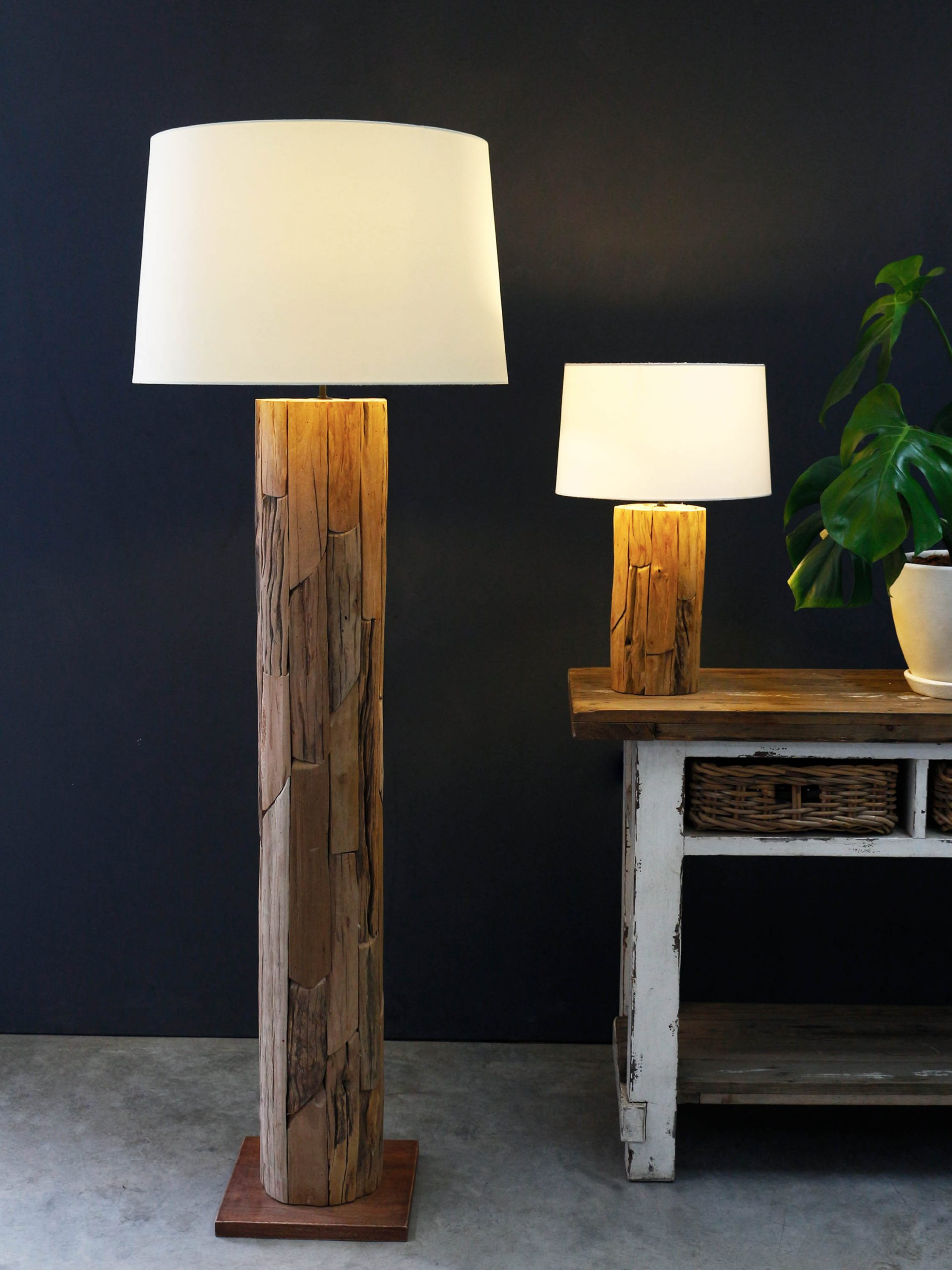 Wooden Patch floor lamp product photo #1